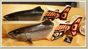 chinook salmon out of the myths wood fish carving eric l knowlton reel trout studio